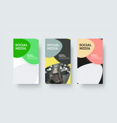 Layout for banner with abstract design with vector