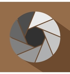 Little objective icon flat style vector