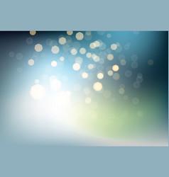 many bright blured lights on dark background vector image