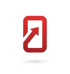 Mobile phone app logo icon design template vector
