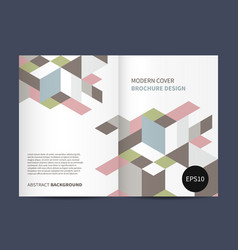 Modern brochure design vector