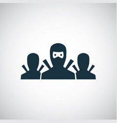 ninja team icon for web and ui on white background vector image
