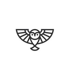 Owl logo design smart wise bird wings vector