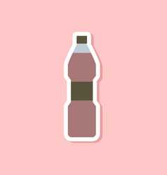 Paper sticker on stylish background soda bottle vector