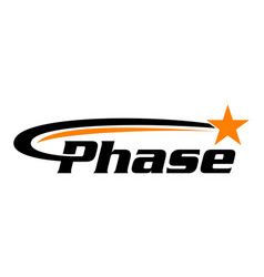 Phase with star swoosh vector