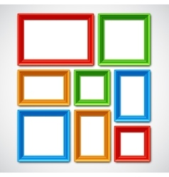 Picture Frames Collage vector