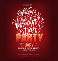 poster of valentine day in modern style vector image
