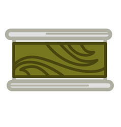 Preserved green seaweed vector