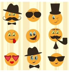 Retro smileys vector image