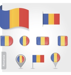 Romanian flag icon vector