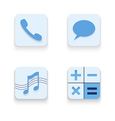 Set of icons for mobile app vector image
