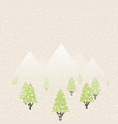 snow in the woods vector image