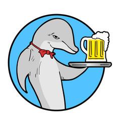 summer dolphin beers vector image