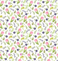 summer pattern Elegant seamless pattern with tulip vector image