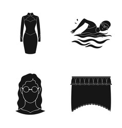 Textiles sports hairdresser and other web icon vector