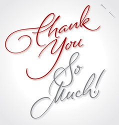 Thank you very much hand lettering vector