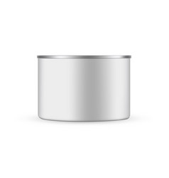 tin can mockup isolated on white background vector image