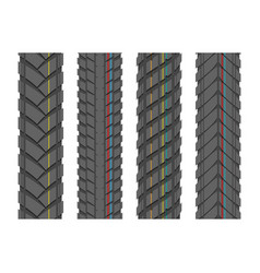 Tire tracks with lines vector