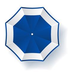 Umbrella blue white vector