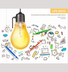 visualizing ideas brainstorming realistic vector image