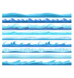 water game seamless ice ocean sea or river layers vector image
