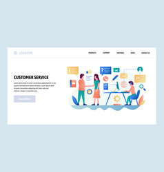 Web site design template customer service vector
