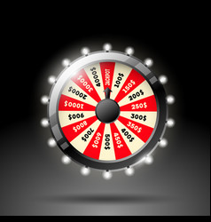 wheel of fortune 3d object vector image