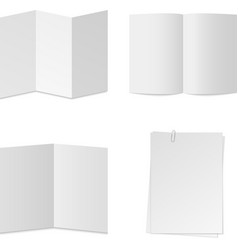 white paper set vector image