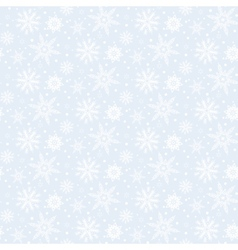 Winter pattern with various falling snowflakes vector