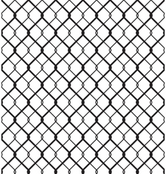 Wired Metallic Fence Seamless Pattern vector image