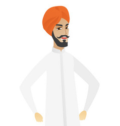 Young hindu angry businessman screaming vector