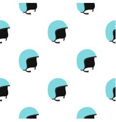 Blue safety helmet pattern seamless vector