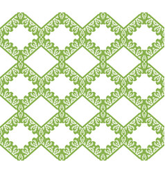 greenery eco rhombus seamless pattern background vector image