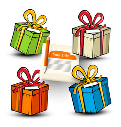 paper gift boxes set isolated on white background vector image vector image