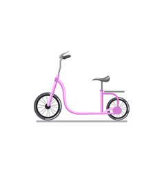 Pink colored child cycle vector
