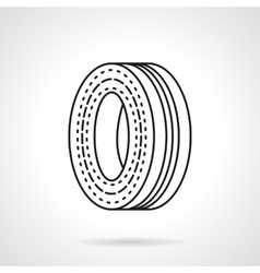 Wheel disk flat line icon vector image