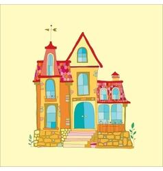 beautiful mansion vector image