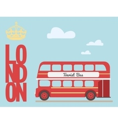 Double decker bus cartoon from england british vector