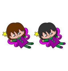 Flying Pixie Girl vector image vector image