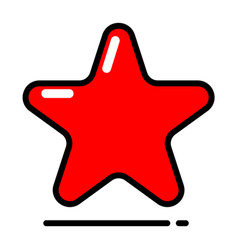red star icon favorite best rating award vector image vector image