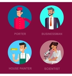 Profession people Detailed character vector image vector image