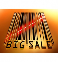 sale barcode vector image vector image