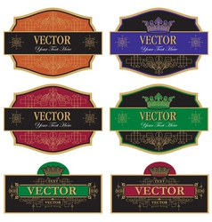 set label vintage vector image vector image