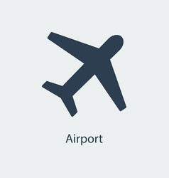 airport icon airplane sign vector image