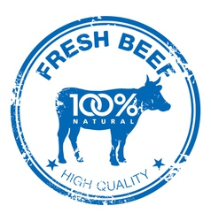 Beef stamp vector image vector image
