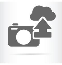 digital camera cloud icon vector image