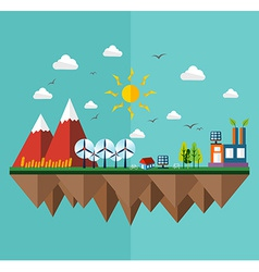 Ecology city flat concept vector
