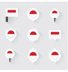 monaco flag and pins for infographic and map vector image vector image