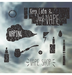 Vape shop icons set vector image vector image