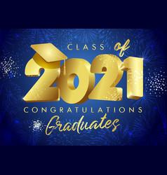 2021 golden graduates class 3d fireworks blue n vector